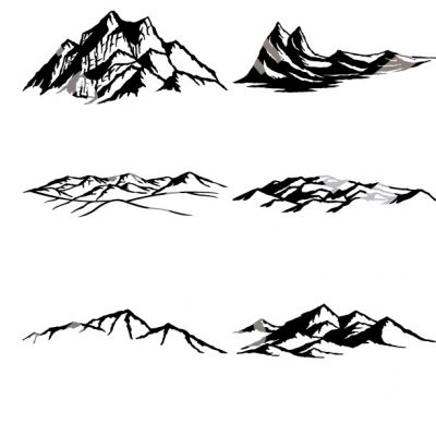 Mountains And Trees Cnc Dxf Files Cnc Dxf Files
